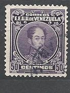VENEZUELA  1939 Simon Bolivar  VILOETTA SCURO    USED - Venezuela