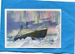 U R S S-Carte Postale Entier Postal 25 K Neuf -de 1959-Illustré- Bateau-brise Glace  LENINE - Au Pole Ouvrant La Voie Gc