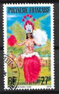 Polynésie 1977 - N° YT  PA 124, Oblitéré, Used - Danseuse, - Poste Aérienne