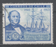 Chile 1966. Scott #358 (U) William Wheelwright And S.S. Chile - Chili