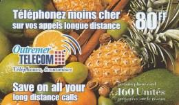 Reunion - Outremer Telecom - Fruits 80FF - Reunion