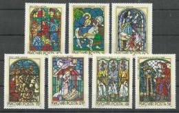 """Ungarn 2817-23A """" Satz Mit 7 Briefmarken Kpl. Zu Glasmalereien Ungarns"""",postfrisch Mi.: 4,50 €"""