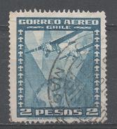 Chile 1934. Scott #C40 (U) Two Airplanes Over Globe - Chili