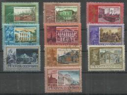 """Sowjetunion  3609-3616,3632,3681 """"10 Briefmarken Mit Abbildungen Von Leningedenkstätten """"gestempelt Mi.:1,50 €"""