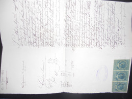 France , Fiscal Document De 1893 Avec Timbres Copies - Fiscaux