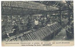 """Cpa Saint-Etienne - Manufacture Française D'armes Et Cycles ... Atelier De Montage Des Cycles """"Hirondelle""""   ((S.248)) - Saint Etienne"""