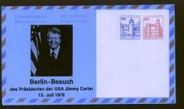 Berlin - Privatganzsache/LP-Faltbrief PF 008 D1/001  - 70 Pf. + 20 Pf. Burgen+Schlösser - 1978 - Ungebraucht - Berlin (West)
