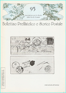 BOLLETTINO PREFILATELICO E STORICO POSTALE  - N° 95 - Filatelia E Storia Postale