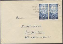 B837 Brief Bedarf DDR 1954 Paar Mi. 424 Aptierter Stempel Zwickau Viermächtekonferenz Nach Frankfurt Oder - Storia Postale