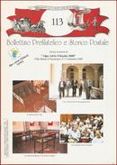BOLLETTINO PREFILATELICO E STORICO POSTALE  - N° 113 - Filatelia E Storia Postale