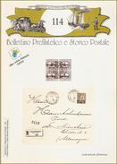 BOLLETTINO PREFILATELICO E STORICO POSTALE  - N° 114 - Filatelia E Storia Postale
