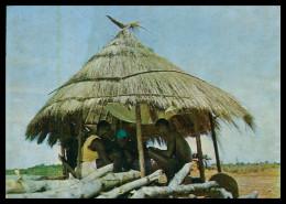 GUINÉ-BISSAU -Palhota - Jogo Das Pedras - Tipico Da Guiné( Ed. Foto Iris Nº 10)carte Postale - Guinea Bissau