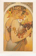 Alphonse MUCHA - Le Fruit 1897 ( Carte Moderne) - Mucha, Alphonse