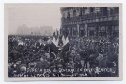 LIMOGES 87 HAUTE VIENNE CARTE PHOTO LES  FUNÉRAILLES DU GENERALE  EN CHEF ALTAMAYER DÈCÈDÈ LE 01/12/1908 - Limoges