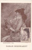 Carte-Maximum FRANCE N° Yvert 738 (SARAH BERNHARDT) Obl Sp1946 (Ed Braun) - Maximumkaarten