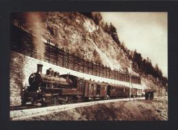 CPM Chemin De Fer YVERDON-SAINTE CROIX (Ste) Un Train à Vapeur Dans Les Rapilles De Baulmes En 1914 YSteC - Réf A2957 - Trains