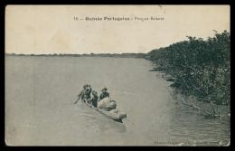 GUINÉ-BISSAU - Piroga Balante ( Ed. Philipps Garés Nº 10)  Carte Postale - Guinea Bissau
