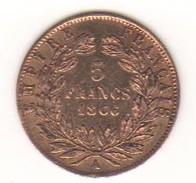 5 Francs OR Napoléon III - 1866 A - Gold