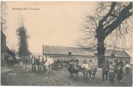 MEULERS - Ferme - Carte En L´état, à Moitié Décollée - France
