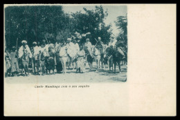 GUINÉ-BISSAU - Chefe Mandinga Com O Seu Sequito  Carte Postale - Guinea Bissau