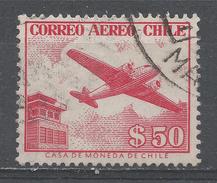 Chile 1956. Scott #C177 (U) Control Tower And Plane * - Chili