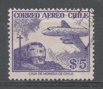 Chile 1956. Scott #C183 (U) Train And Plane * - Chili