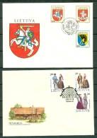 Lithuania 1992  2 FDC´s Vilnius 18.10.92 - Lietuva 11.101992 - Lituanie