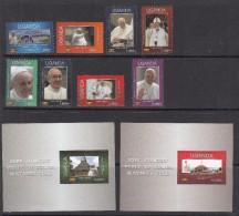 2015 Uganda Visit Of Pope Francis To Uganda Religion Complete Set  Of 8 & 2 Souvenir Sheets MNH - Uganda (1962-...)