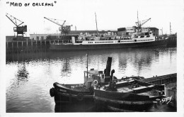 """Cpsm Boulogne Sur Mer Pas De Calais   Paquebot   """" Maid Of Orléans """" British Railways - Commerce"""