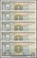 1995-BK-111  CUBA 1995. 1$. BANCO NACIONAL. JOSE MARTI. UNC. 5 CONSECUTIVOS. - Cuba