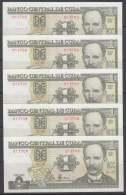 2003-BK-110  CUBA 2003. 1$. BANCO NACIONAL. JOSE MARTI. UNC. 5 CONSECUTIVOS. - Cuba