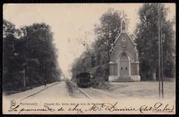Morlanwelz - Chapelle Ste Barbe Dans Le Bois De Mariemont - 1905 - Avec Tram  - SIMPLE CERCLE MORLANWELZ S. Nr. 74 !! - Belgique