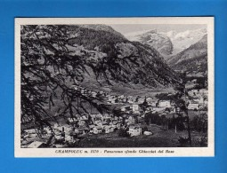 Valle D´Aosta -  CHAMPOLUC , Panorama Sfondo Ghiacciai Del ROSA .   NO   Viaggiata. - Italia