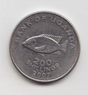@Y@     Oeganda  200 Shilling  2007     (3125) - Ouganda