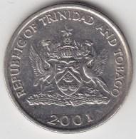 @Y@    Trinidad En Tobago  25 Cents 2001     (3166) - Trinité & Tobago