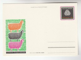 1972 POLAND Postal STATIONERY Card Illus WOOLMARK WOOL INDUSTRY SHEEP  Textile  Cover Stamps - Textile