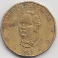 @Y@    Dominicaanse Republiek 1 Peso  1997      (3170) - Dominicaine