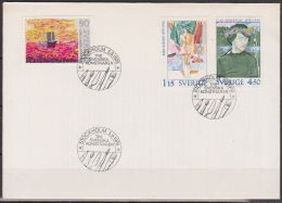 Schweden FDC 1978 Nr.1034 - 1036 100.Geb.Carl Kylberg Karl Isaksson,Ivar Arosenius ( D 3729 ) - FDC