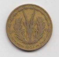 @Y@    Frans Afrika  25 Francs 1959      (3129) - Colonies