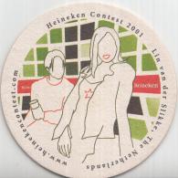 Heineken - Heineken Contest 2001 - Lin Van Der Slikke - Nederland - Ongebruikt - Bierviltjes