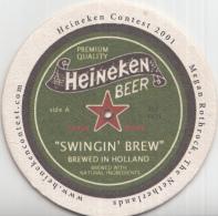 Heineken - Heineken Contest 2001 - Megan Rothrock - Nederland - Ongebruikt - Bierviltjes