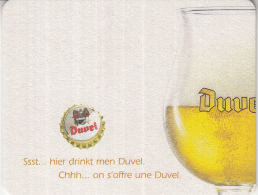 Duvel - Ssst ... Hier Drinkt Men Duvel/Chhh ... On S'offre Une Duvel - Ongebruikt - Bierdeckel