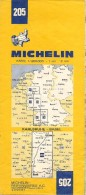 CARTE-ROUTIERE-MICHELIN-N°205-23é Edition-1973-ALLEMAGNE-KARLSRUHE-BASEL-TBE - Cartes Routières