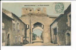 Carte Toilée Et Colorisée De MONTREUIL BELLAY  La Porte Nouvelle  ( Recto Verso ) - Montreuil Bellay