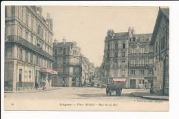 Carte D´ Angers  Place Molière  Rue De La Roë ( Colorisée )  ( Recto Verso ) - Angers