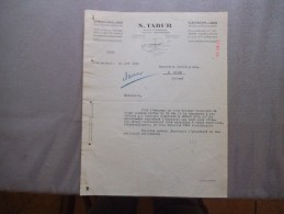 AVRANCHES N. TABUR QUINCAILLERIE ELECTRICITE EN GROS PLACE ST GERVAIS COURRIER DU 21 AOUT 1935 - France