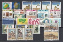 SAN MARINO - 1988 - Annata Completa - 24 Valori - Year Complete ** MNH/VF - Annate Complete