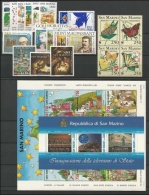 SAN MARINO - 1993 - Annata Completa - 20 Valori + 2 BF - Year Complete ** MNH/VF - San Marino