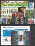 SAN MARINO - 1994 - Annata Completa - 33 Valori + 2 BF - Year Complete ** MNH/VF - San Marino