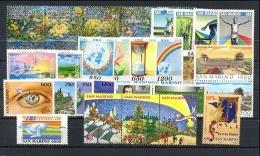 SAN MARINO - 1995 - Annata Completa - 30 Valori - Year Complete ** MNH/VF - Annate Complete